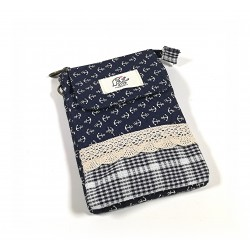 Zauberhafte Vintage Handtasche - dunkelblau